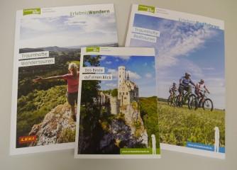 Highlightkarte, Rad- und Wandermagazin – neue Broschüren für die Schwäbische Alb