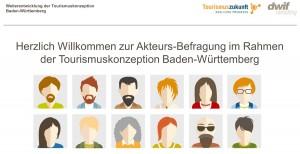 Online-Umfrage zur Weiterentwicklung der Tourismuskonzeption Baden-Württemberg