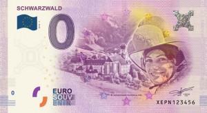 Schwarzwaldmädel auf dem Euroschein