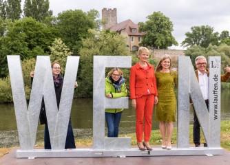 Fotopunkte in reizvoller Lage – Neckar-Zaber-Tourismus weiht neue Wahrzeichen ein