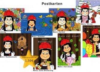 """""""Mal-und Rätselspaß mit Anni"""" und """"Anni-Postkarten"""""""