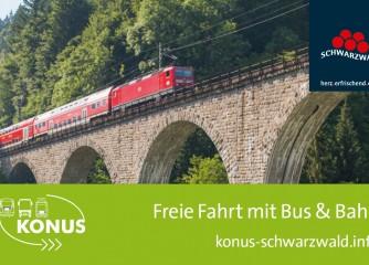 Faltblatt KONUS-Fahrplaninfos zu ausgewählten Ausflugszielen