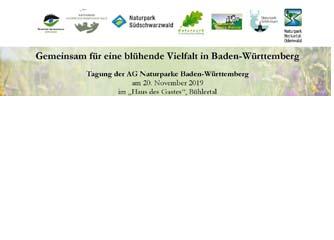 Einladung: Tagung der AG Naturparke Baden-Württemberg 20.Nov.2019