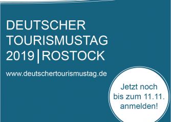 Anmeldung noch möglich: Deutscher Tourismustag am 21. November in Rostock