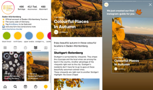 "Instagram Account visitbawu, Instagram Guides am Beispiel ""Colourful Places in Baden-Württemberg"""